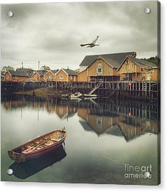 Fishing Village Acrylic Print by Mariko Klug