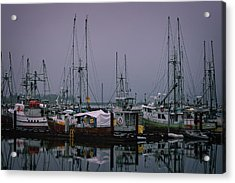 Fishing Wharf In Clearing Mist Acrylic Print