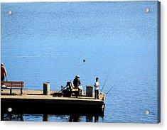 Fishing With Grandpa Acrylic Print