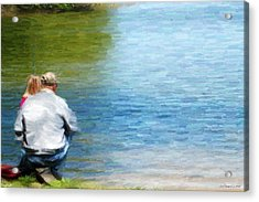 Fishing With Grandpa Acrylic Print