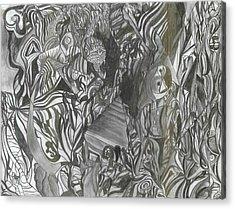 Fist Doodle Acrylic Print by Joseph  Arico
