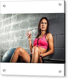 Fitness Trainer @carlamagallanes Acrylic Print