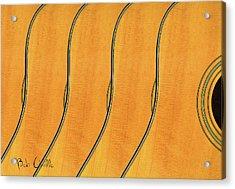 Five Fender Guitars Acrylic Print by Bob Orsillo