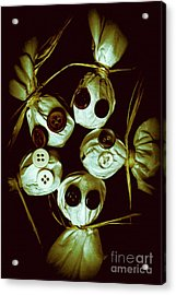 Five Halloween Dolls With Button Eyes Acrylic Print by Jorgo Photography - Wall Art Gallery