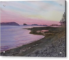 Acrylic Print featuring the painting Five Islands - Bay Of Fundy by Joel Deutsch