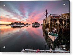Five Islands Sunrise Reflections Acrylic Print by Benjamin Williamson