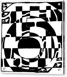 Five Maze Acrylic Print by Yonatan Frimer Maze Artist