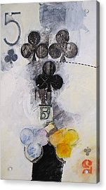 Five Of Clubs 18-52 Acrylic Print
