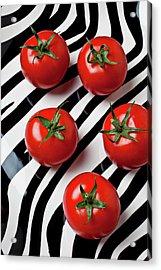 Five Tomatoes  Acrylic Print