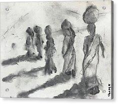 Five Women Immigrants Acrylic Print