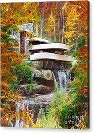 Fixer Upper - Frank Lloyd Wright's Fallingwater Acrylic Print