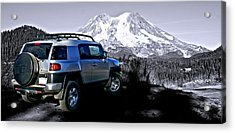 Fj Cruiser Mt. Rainier Washington Acrylic Print