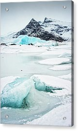 Acrylic Print featuring the photograph Fjallsarlon Glacier Lagoon Iceland In Winter by Matthias Hauser
