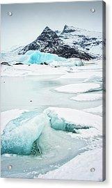 Fjallsarlon Glacier Lagoon Iceland In Winter Acrylic Print by Matthias Hauser