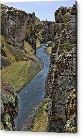 Fjaorargljufur Canyon # 2 Acrylic Print by Allen Beatty
