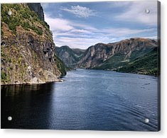 Fjord Acrylic Print by Jim Hill