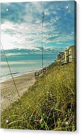 St Aug Beach Acrylic Print by Josy Cue