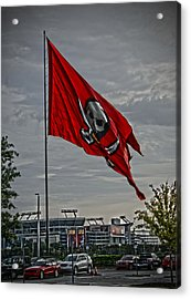 Flag And Stadium Acrylic Print by Chauncy Holmes