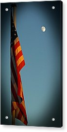 Flag And The Moon Acrylic Print