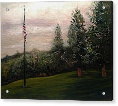 Flag Pole At Harborview Park Acrylic Print