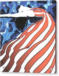 Flag Dancer Acrylic Print by Linda Crockett