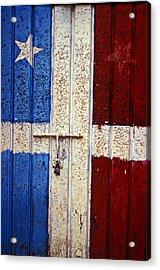 Flag Door Acrylic Print by Garry Gay