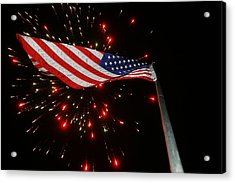 Flag In All Its Fiery Glory Acrylic Print