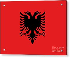 Acrylic Print featuring the digital art Flag Of Albania Authentic Version by Bruce Stanfield
