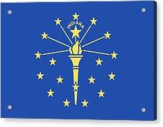 Flag Of Indiana Acrylic Print by American School