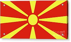 Acrylic Print featuring the digital art Flag Of Macedonia by Bruce Stanfield