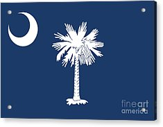 Acrylic Print featuring the digital art Flag Of South Carolina Authentic Version by Bruce Stanfield