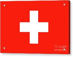Acrylic Print featuring the digital art Flag Of Switzerland by Bruce Stanfield
