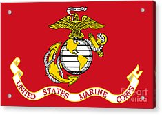 Flag Of The United States Marine Corps Acrylic Print by Pg Reproductions