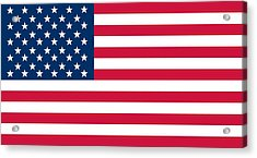 Flag Of The United States Of America Acrylic Print by American School