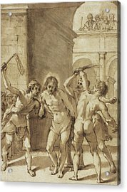 Flagellation Of Christ Acrylic Print by Guercino