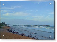 Flagler Morning Acrylic Print by Cheryl Waugh Whitney