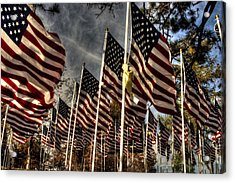 Flags Flags And More Flags Acrylic Print by David Bishop