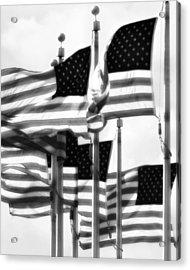 Flags Acrylic Print by John Gusky