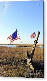 Flags Near Tybee Acrylic Print