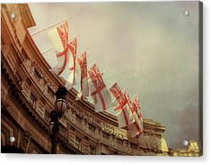 Flags Of London Acrylic Print by JAMART Photography