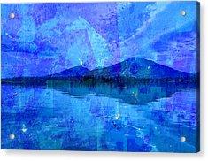 Flagstaff Lake Blu Acrylic Print