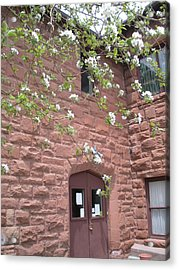 Flagstaff Stone Church Acrylic Print by Jeanette Oberholtzer
