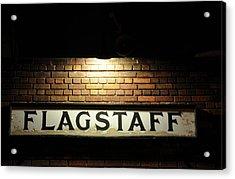 Flagstaff Train Station Acrylic Print