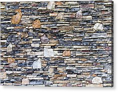 Flagstone Wall Acrylic Print