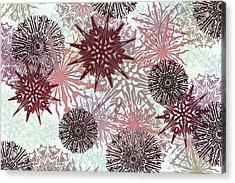 Flakes Love Acrylic Print by AugenWerk Susann Serfezi