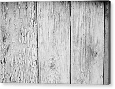Acrylic Print featuring the photograph Flaking Grey Wood Paint by John Williams