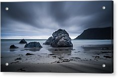 Acrylic Print featuring the photograph Flakstad Beach by James Billings