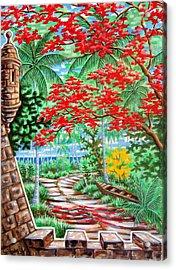 Flamboyan En El Morro Acrylic Print