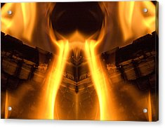 Flame Forms Acrylic Print by Ross Powell