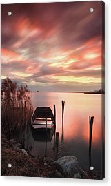 Flame In The Darkness Acrylic Print